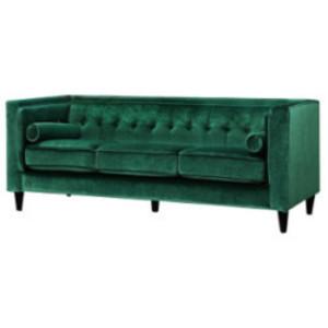 Emerald Velvet Sofa rental Austin, TX