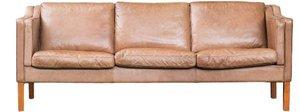 Brown Leather Sofa rental Austin, TX