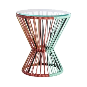 Multicolored PVC Cord Side Table rental Austin, TX