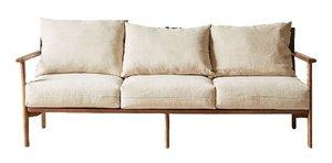 Relaxed Mid-Century Modern Sofa rental Austin, TX