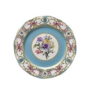 Floral Vintage Blue Dinner Plate  rental Austin, TX