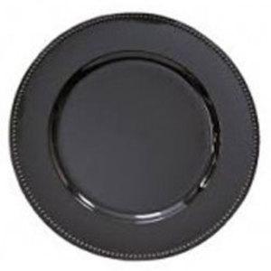 "Black Acrylic Charger Plate 13"" rental Austin, TX"
