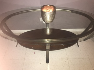 Glass coffee table and 2 end tables rental New York, NY