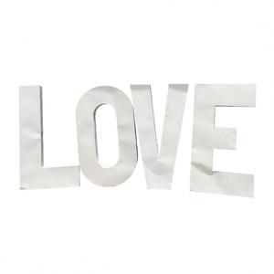 White Metal LOVE Letters rental Austin, TX