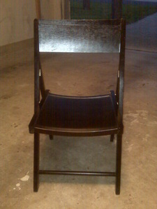 Espresso (Dark Brown) Folding Chairs rental Austin, TX