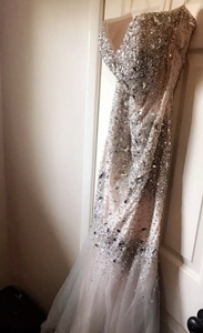 EMBELLISHED COUTURE GOWN Mermaid Prom Dress rental Los Angeles, CA