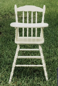 Vintage Wood High Chair  rental Houston, TX