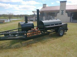 BBQ Grill Smoker Trailer rental Dallas-Ft. Worth, TX