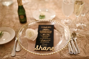 Gold Beaded Glass Charger Plates  rental Pittsburgh, PA
