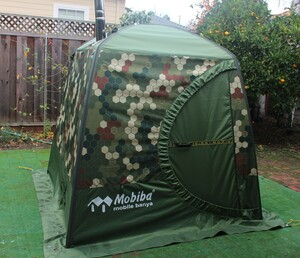 Mobile sauna with wood heater stove rental San Francisco-Oakland-San Jose, CA