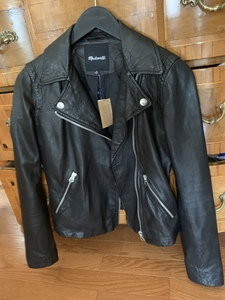 Madewell Motorcycle Moto Black Leather Jacket XS  rental Washington, DC (Hagerstown, MD)