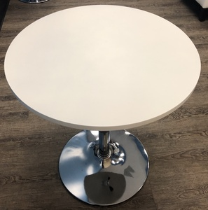 Adjustable white cocktail/barstool table rental Houston, TX