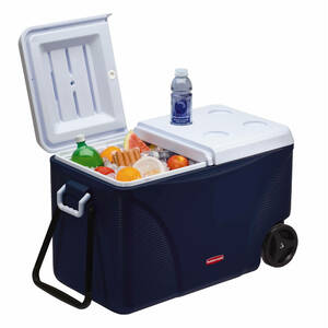 Rubbermaid 75 QT 5 day Wheeled Ice Chest, Blue rental Huntsville-Decatur (Florence), AL