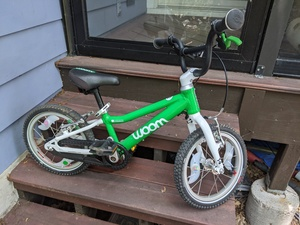 "Woom 2 Child Kids Bike 14"", Ages 3 to 5 Years rental Austin, TX"