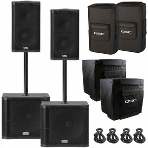 2 QSC KW122 Speaker & 2 QSC KW181 Subwoofer rental Los Angeles, CA