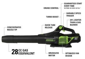 Greenworks Cordless 60V Leaf Blower rental Austin, TX