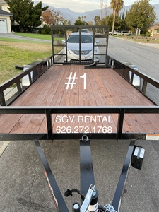 2020 16ft x 82in utility trailer  rental Los Angeles, CA