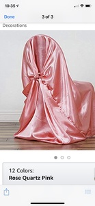 Satin chair cover for events (up to 50) rental Atlanta, GA