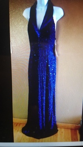 sequence beaded gown rental Denver, CO