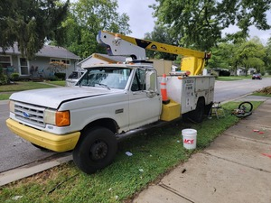 1991 Ford F Super Duty Bucket Truck rental Indianapolis, IN