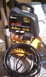 Stanley 2 HP, 6 Gallon Air Compressor & Hose rental Austin, TX