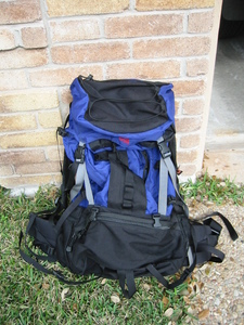 EMS internal frame camping backpack rental Austin, TX