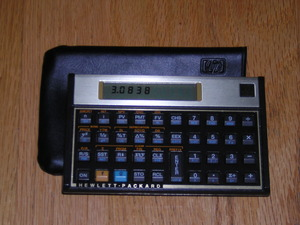 Hewlet Packard HP 12C financial calculator rental Los Angeles, CA