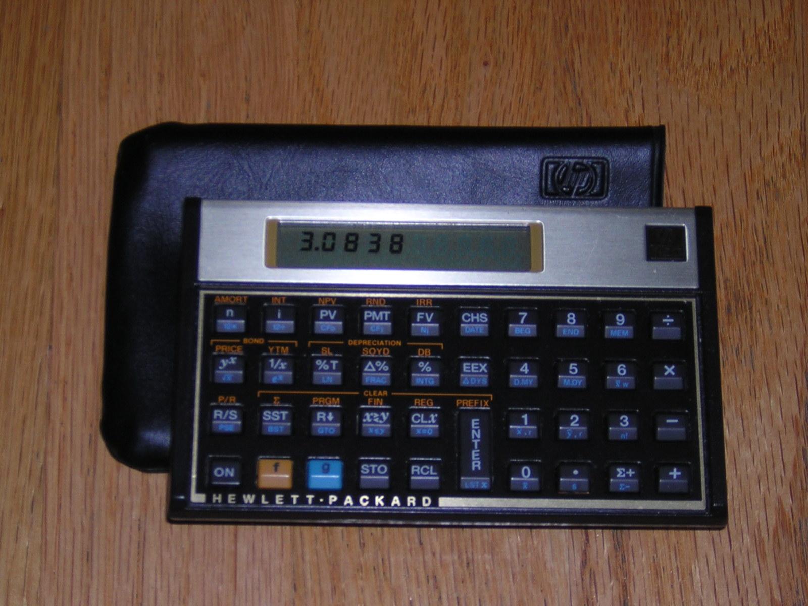 Hewlet Packard HP 12C financial calculator rental in Irvine, CA